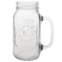 "Olympia Handled Drinking Jar Printed ""Ice Cold Drink"" - 700ml 25oz (Box 12"