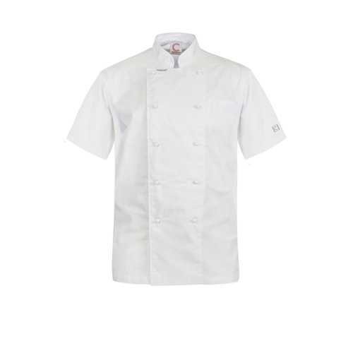 ChefsCraft Exec Lightweight Chef Jacket S/S White(Size:XS)
