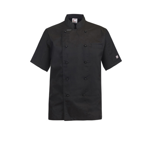 ChefsCraft Exec Lightweight Chef Jacket S/S Black(Size:XS)