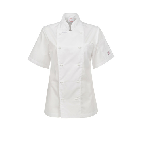 ChefsCraft Exec Lightweight Ladies Chef Jacket S/S White [Size: 6]