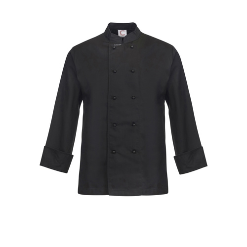 ChefsCraft Classic Chef Jacket L/S Black(Size:XS)