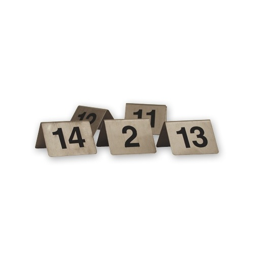 Table Numbers A-Frame Stainless Steel  50x50cm  Set 1 - 10