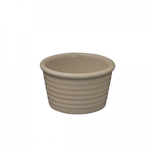 """ZUMA"" SAND -  Ramekin-Ribbed, 85x50mm Qty - 6"
