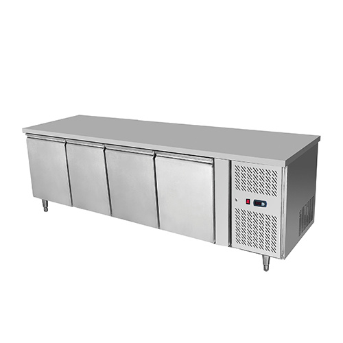 Snowman Stainless Steel 4 Solid Door Undercounter Bench Freezer
