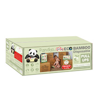 Luvme Bamboo Eco Pull up Nappies One Size Fits Most 12-25kg  Bulk Box x 56 Nappies