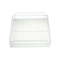 "Glass Basket-PVC 17x14"" White"