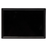 Melamine Rectangular Platter 300x220mm - Black