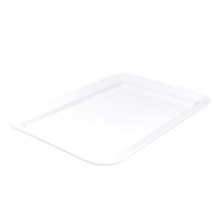 Melamine Rectangular Platter Wide Rim 450x300mm - White