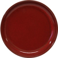 Artistica Round Plate-240mm Rolled Edge Reactive Red