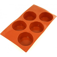 Silicone  Muffin Mould 5 Cup 81 x 32mm