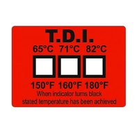 Dishwasher Temperature Label (Pack of 25)