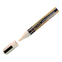 Securit Narrow Chisel Point Marker White - 2x6mm