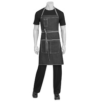 Chef Works Bronx Black Denim Bib Apron
