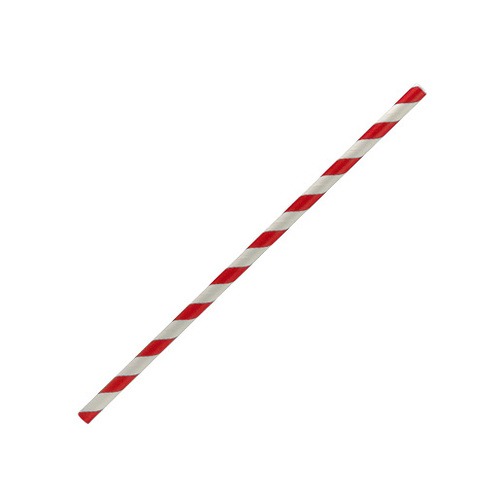 Paper Straws - Red and White CTN 2500